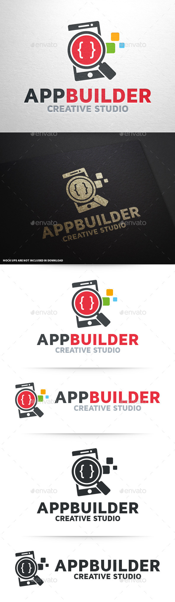 App Builder Logo Template - Objects Logo Templates