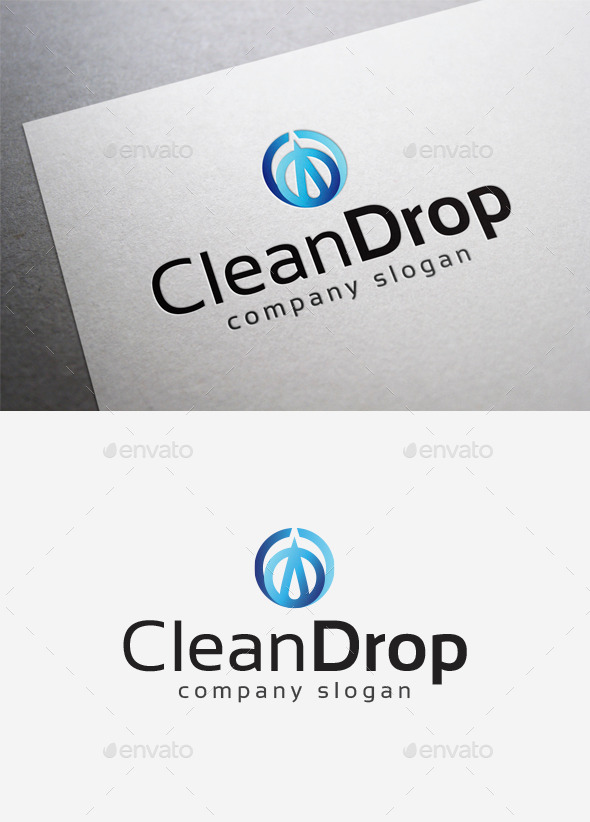 Clean Drop Logo - Abstract Logo Templates