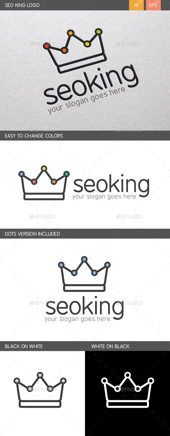 SEO King Logo - Crests Logo Templates