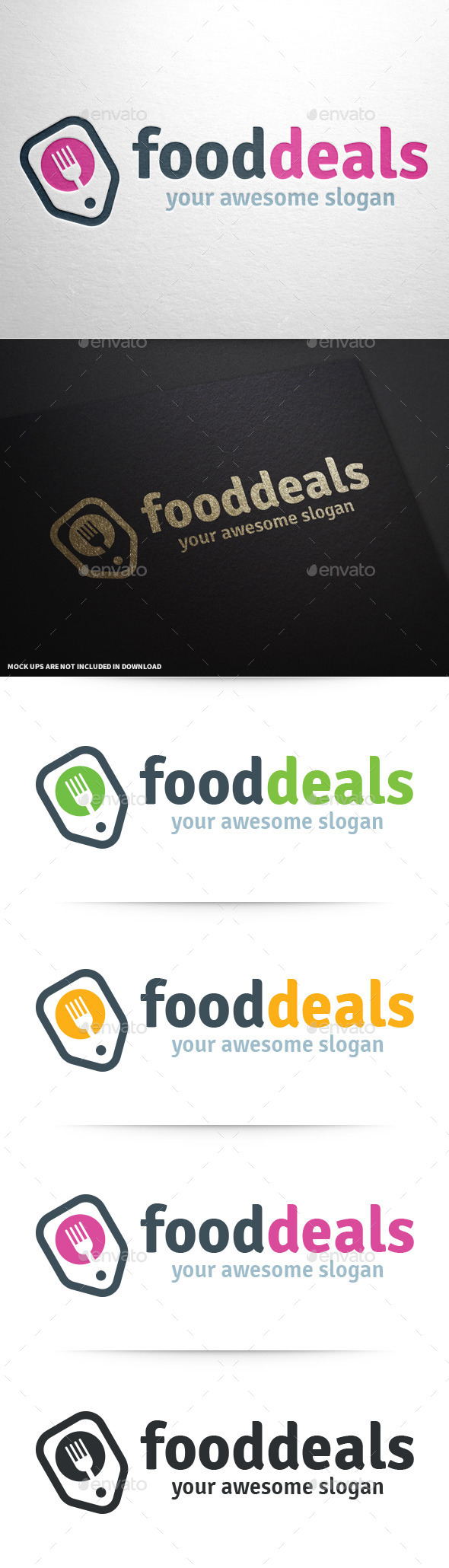 Food Deals Logo Template - Objects Logo Templates