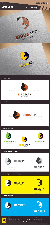 Birds Logo Template - Animals Logo Templates