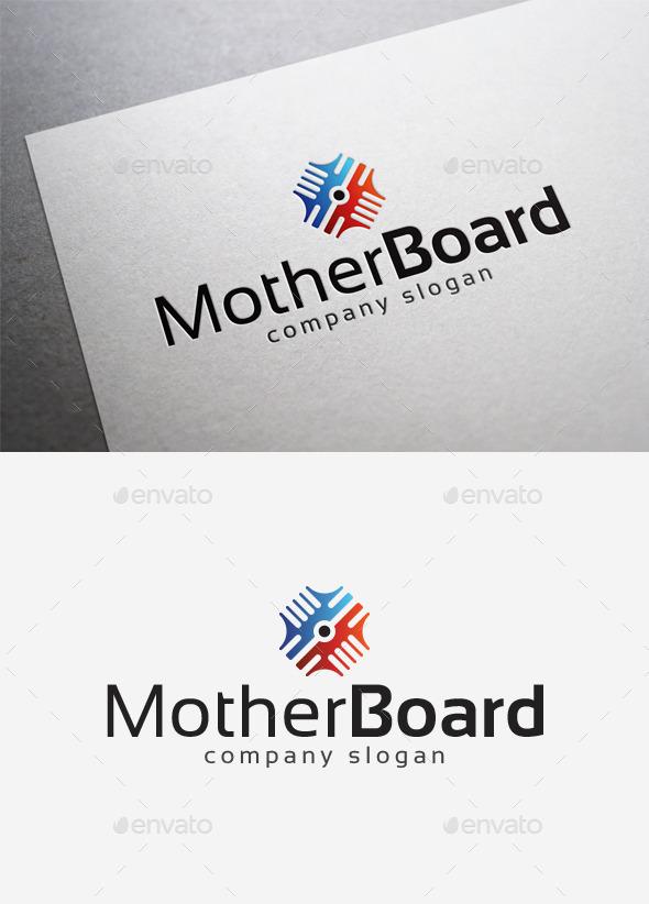 Mother Board Logo - Abstract Logo Templates