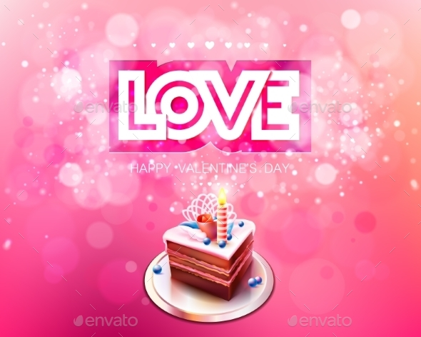 Love and Cake Bokeh Background - Birthdays Seasons/Holidays