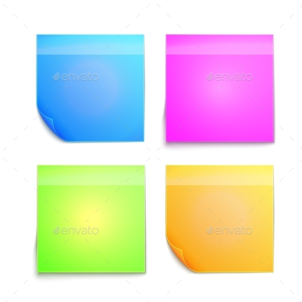 Colorful Sticky Note - Computers Technology