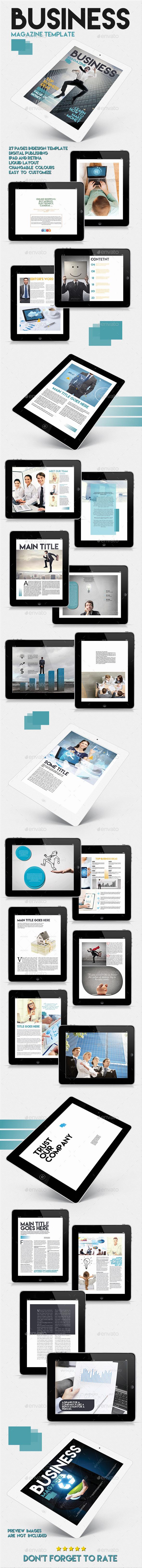 Tablet Business Magazine Template Issue Two - Digital Magazines ePublishing