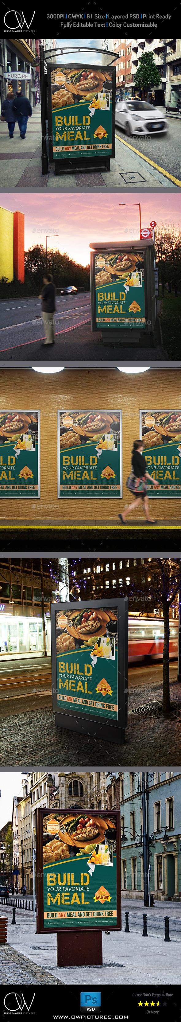 Restaurant Poster Template - Signage Print Templates