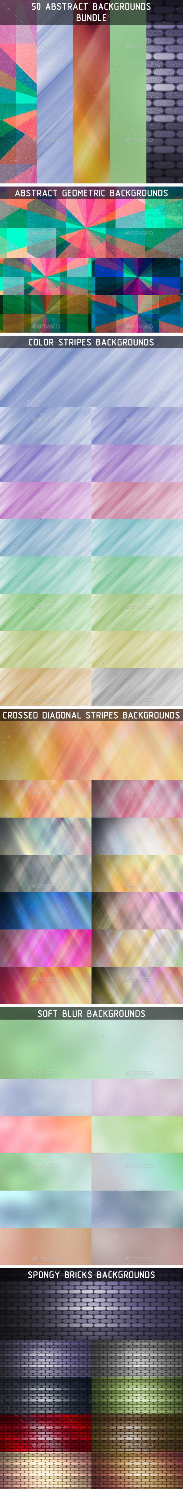 50 Abstract Backgrounds Bundle - Backgrounds Graphics