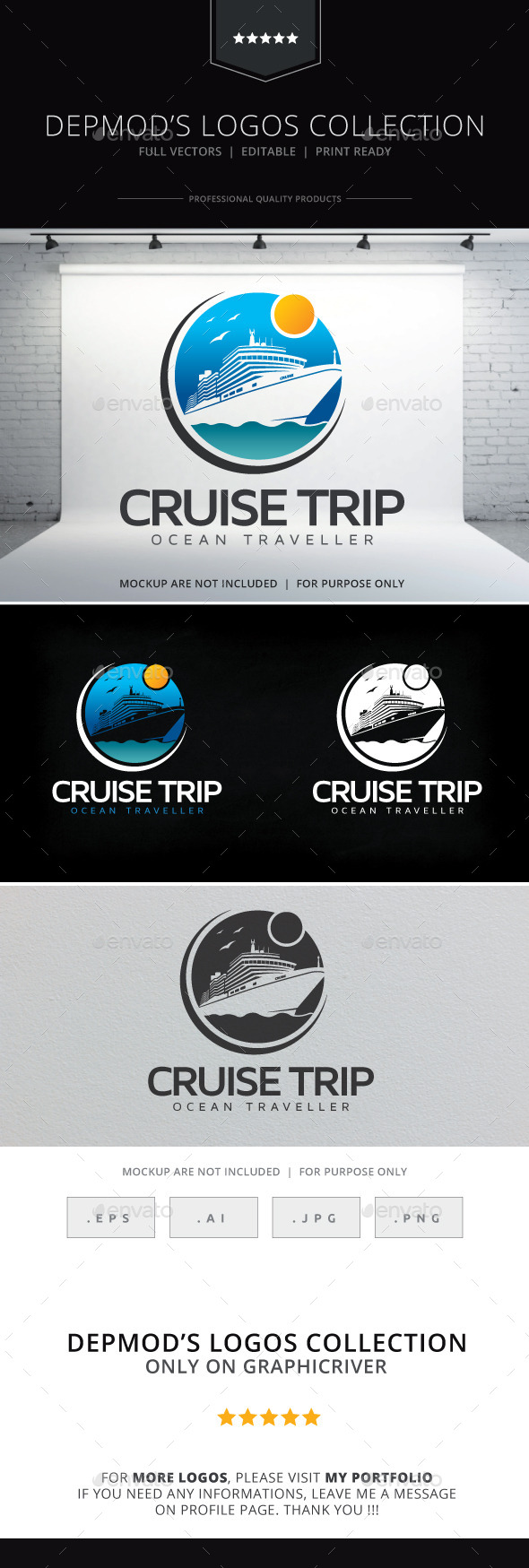Cruise Trip Logo - Objects Logo Templates