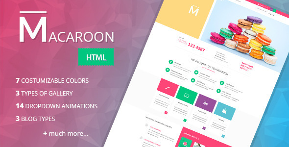 Macaroon - Creative Patisserie HTML Template - Food Retail