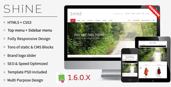 Shine – Responsive Multipurpose PrestaShop Theme