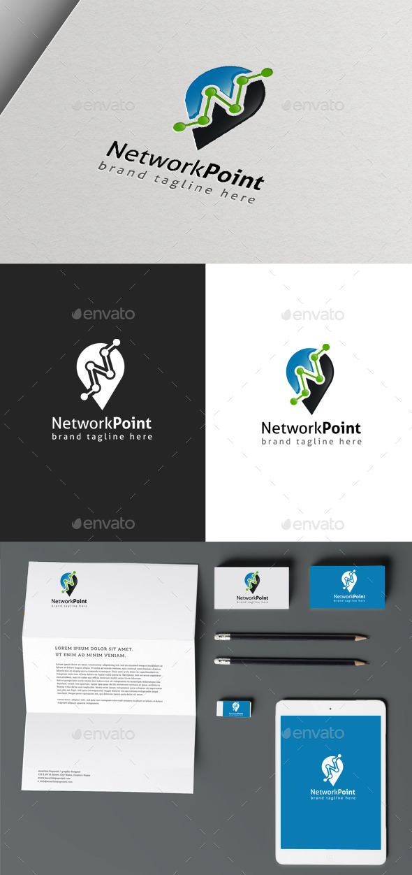 Network Point - Objects Logo Templates