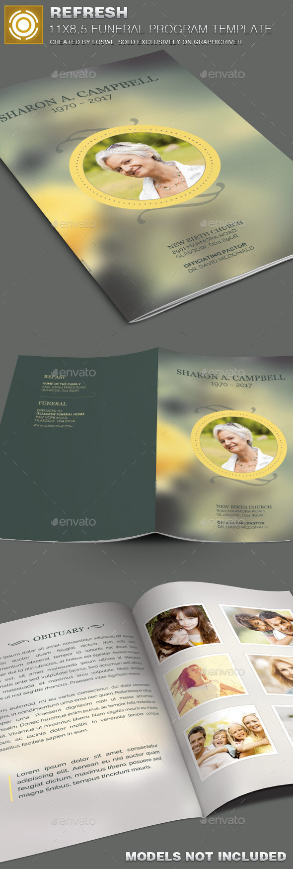 Refresh Funeral Program Template - Informational Brochures