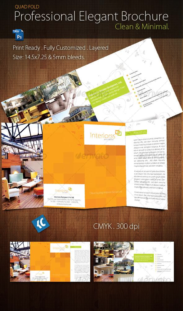 Quad Fold Brochure By Krishnachaitanya Graphicriver