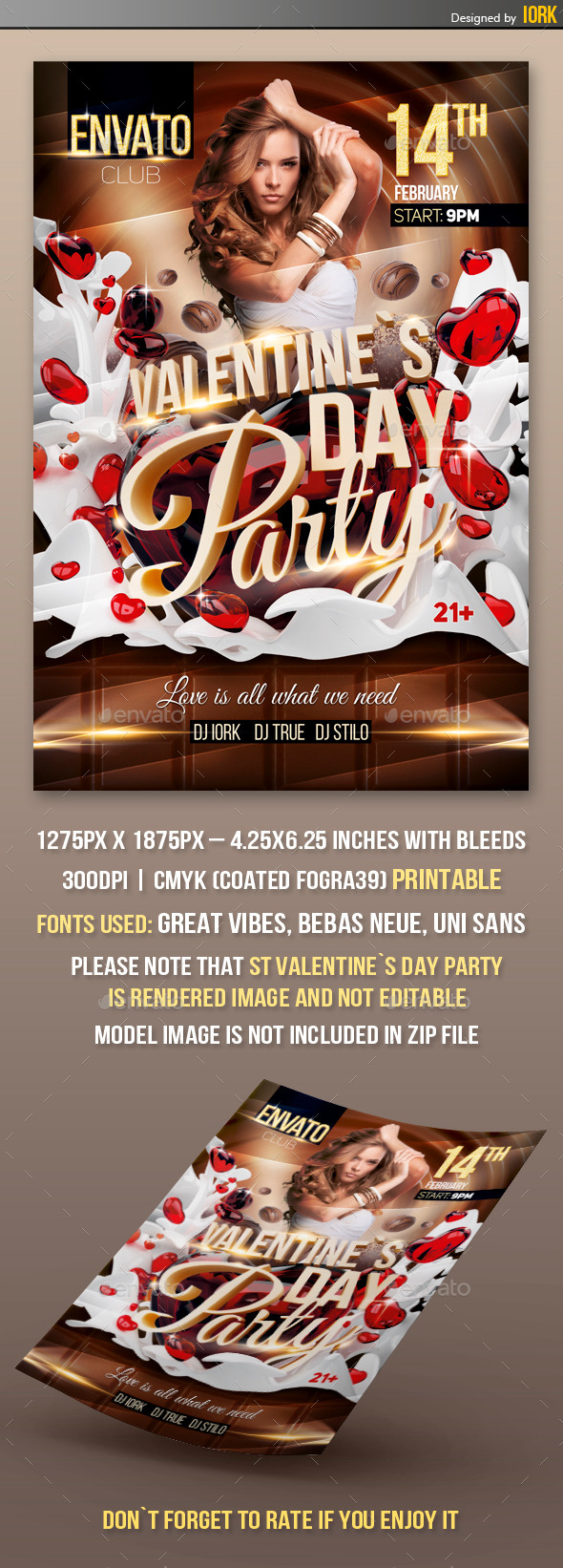 Valentine`s Day Party - Flyers Print Templates