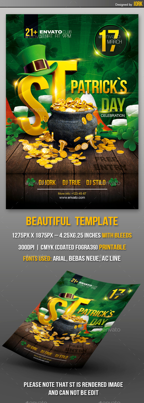 St. Patrick's Day Party Flyer - Flyers Print Templates