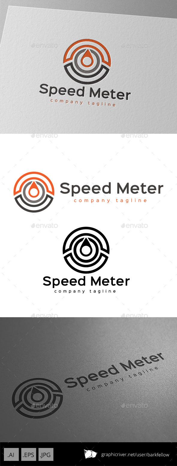 Speed Meter Indicator Logo - Symbols Logo Templates
