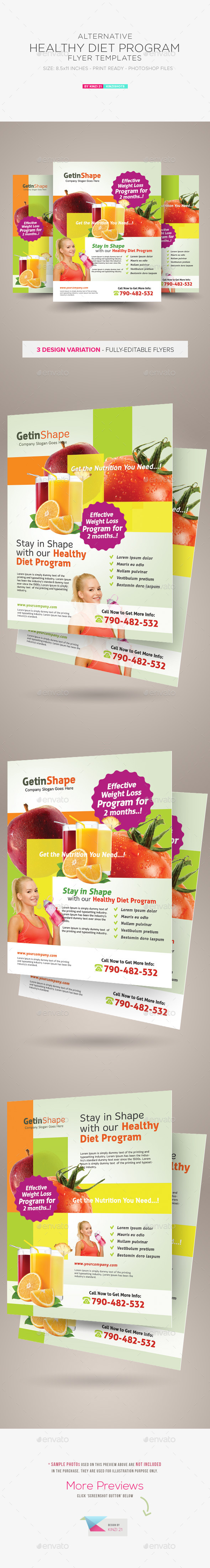 Healthy Diet Program Flyers - Corporate Flyers