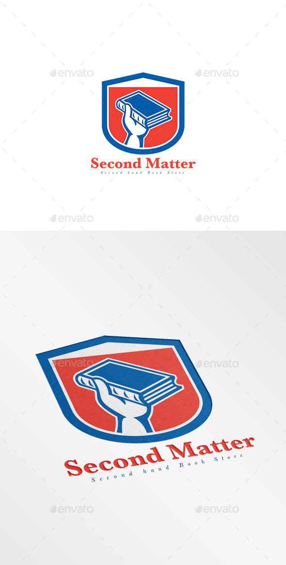 Second Matter Second Hand Bookstore Logo - Objects Logo Templates