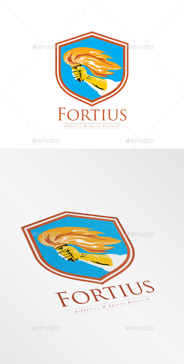 Fortius Athletics and Sports Research Logo - Objects Logo Templates