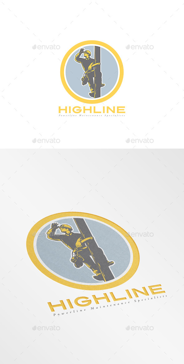 Highline Powerline Maintenance Logo - Humans Logo Templates