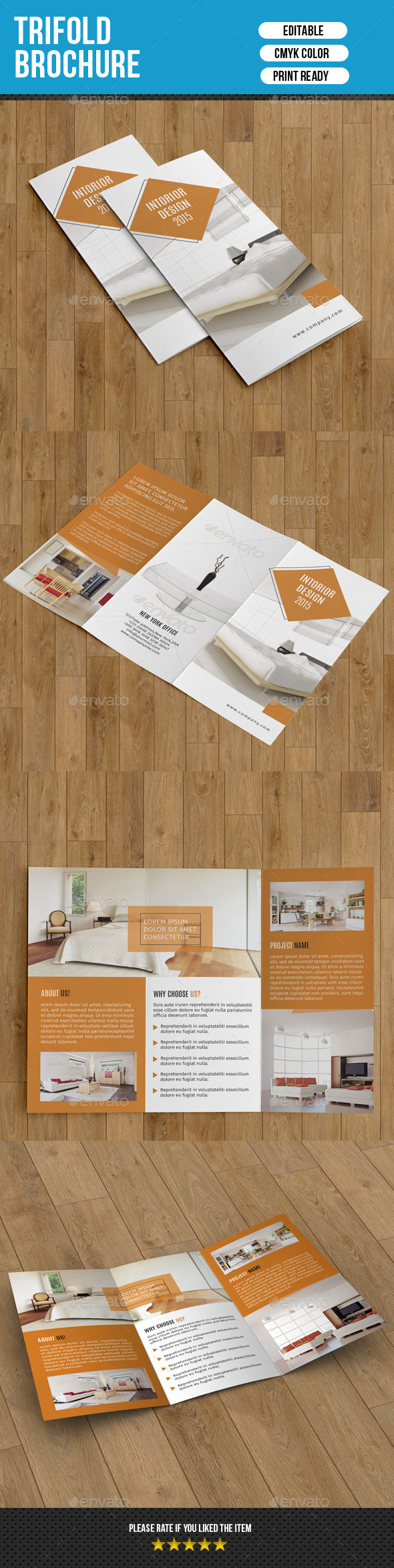 Trifold Brochure for Interior Design-V218 - Corporate Brochures