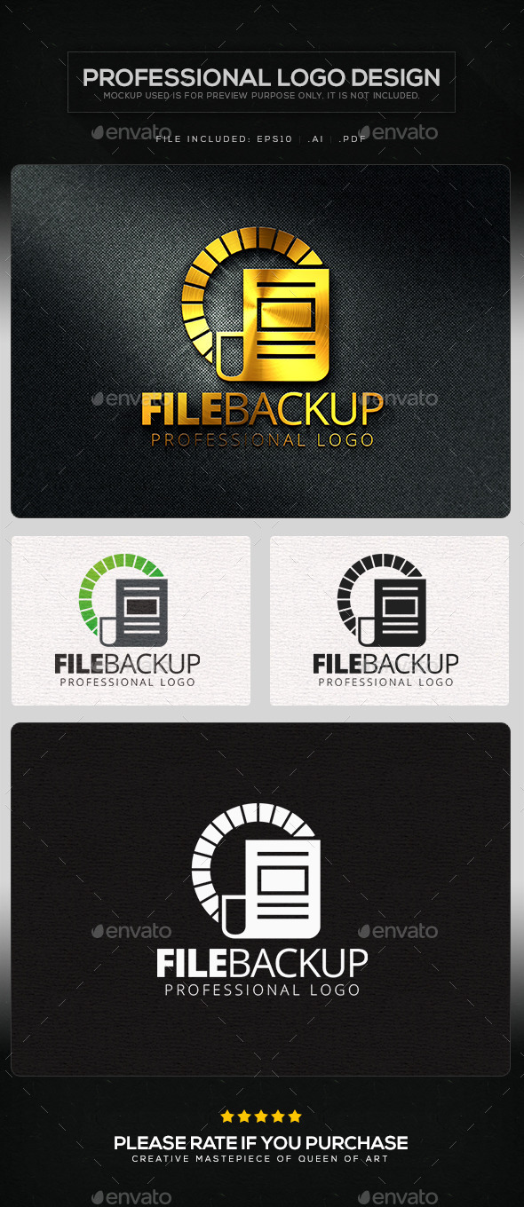 File Backup Logo Template - Symbols Logo Templates