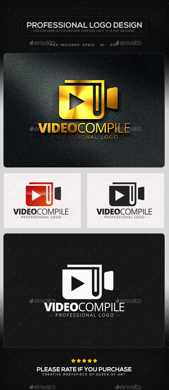 Video Compile Logo Template - Objects Logo Templates