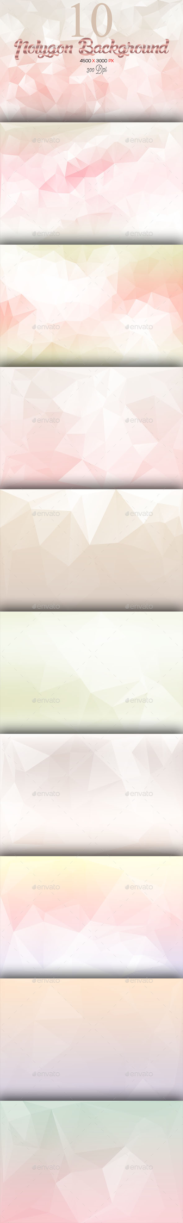 10 Polygon Background Part 7 - Abstract Backgrounds