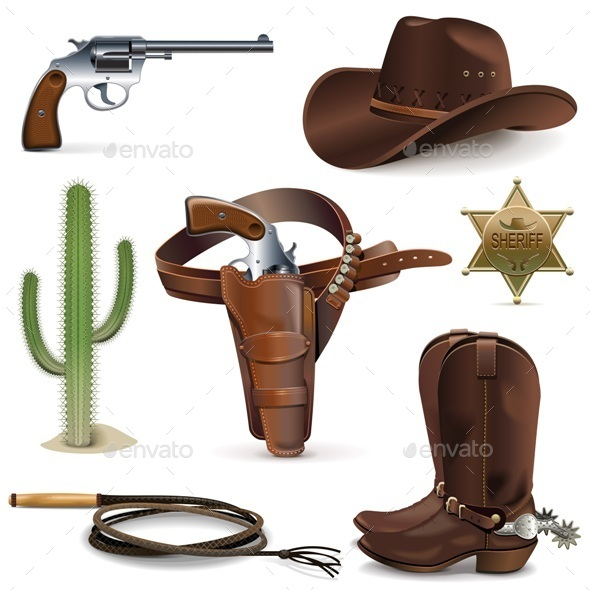 Cowboy Icons - Miscellaneous Vectors