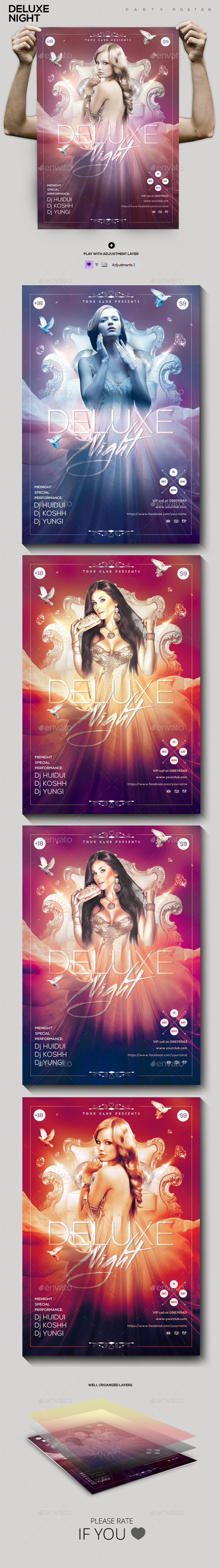 Deluxe Night Party Flyer/Poster - Clubs & Parties Events