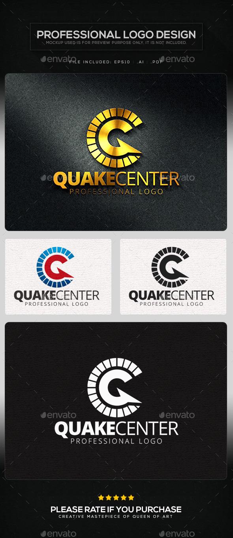Quake Center Logo Template - Letters Logo Templates