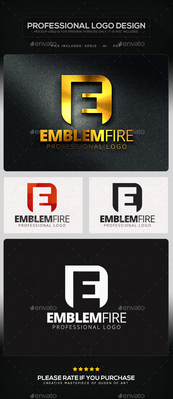 Emblem Fire Logo Template - Letters Logo Templates