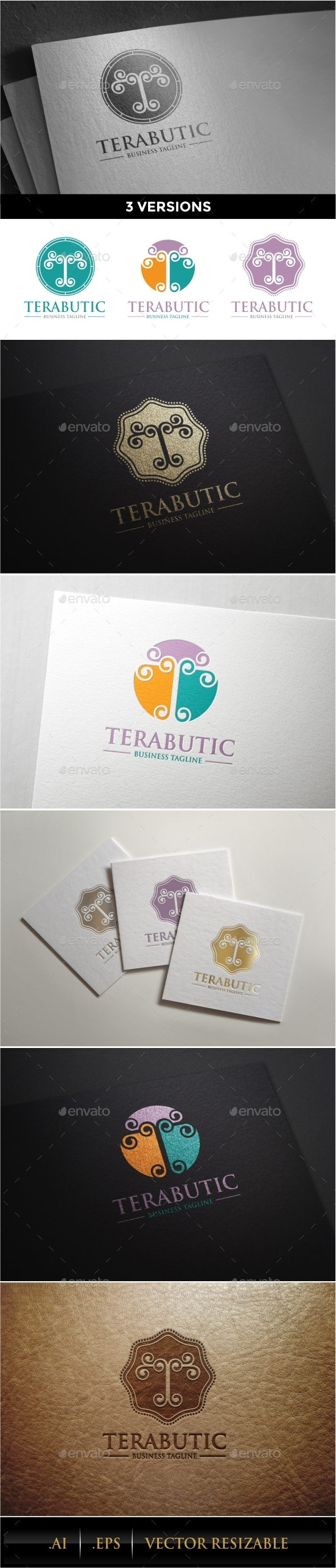 T Letter Logo Template - Letters Logo Templates