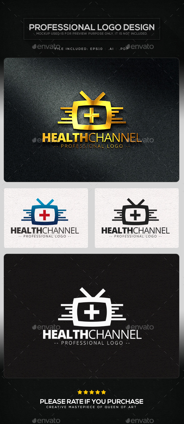 Health Channel Logo Template - Objects Logo Templates