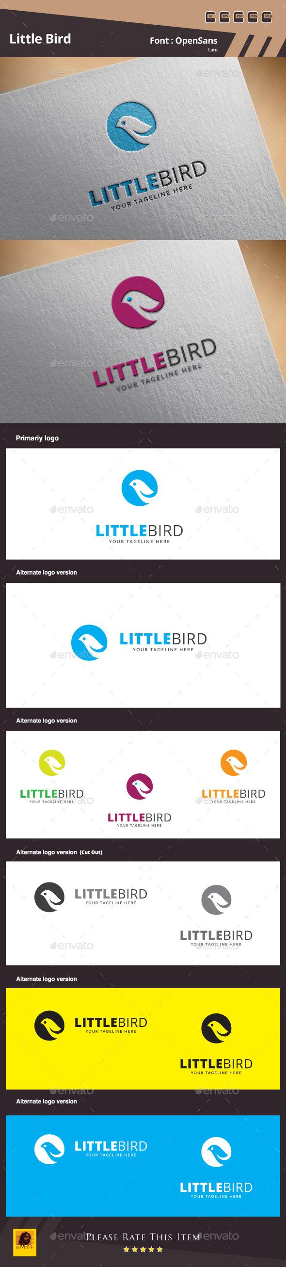 Little Bird Logo Template - Animals Logo Templates