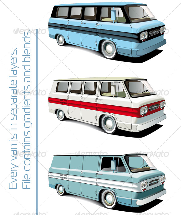 Retro van set - Retro Technology