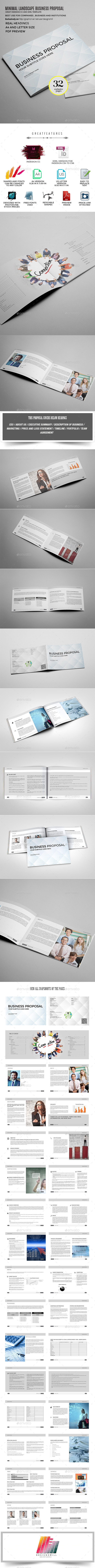 Simple and Minimal Proposal Template - Proposals & Invoices Stationery