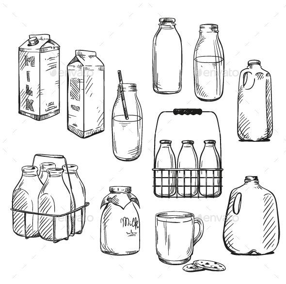 Milk Packaging - Food Objects
