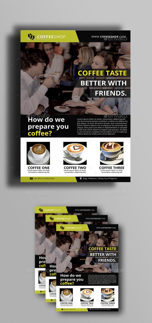 Coffee Shop Flyer - Flyers Print Templates