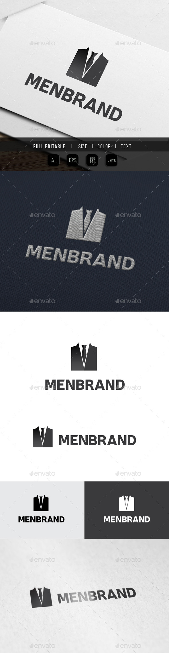 Men Clothing - Tuxedo Suit - Objects Logo Templates