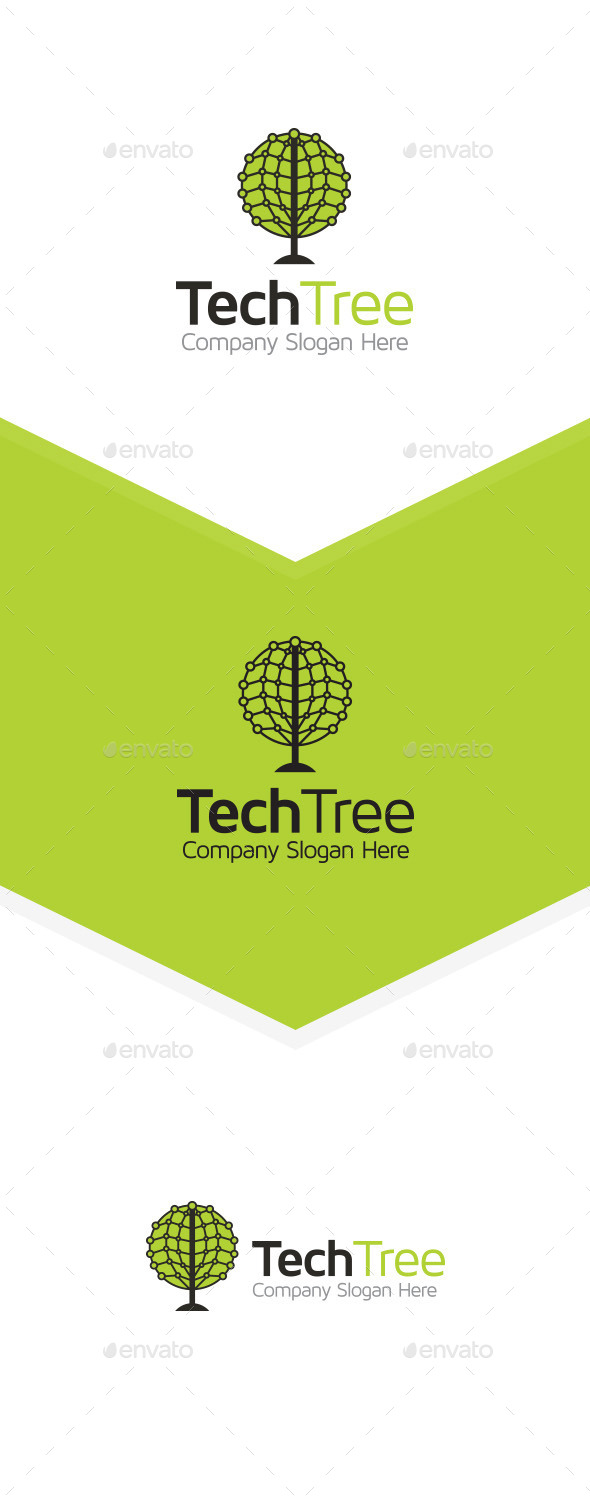 Tech Tree - Abstract Logo Templates