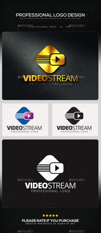 Video Stream Logo Template - Symbols Logo Templates