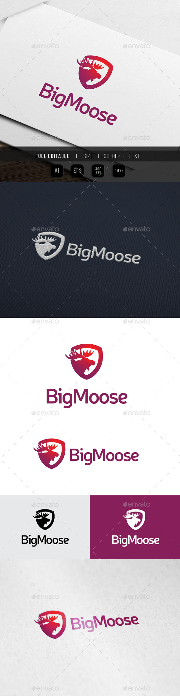 Big Moose Studio - Animals Logo Templates