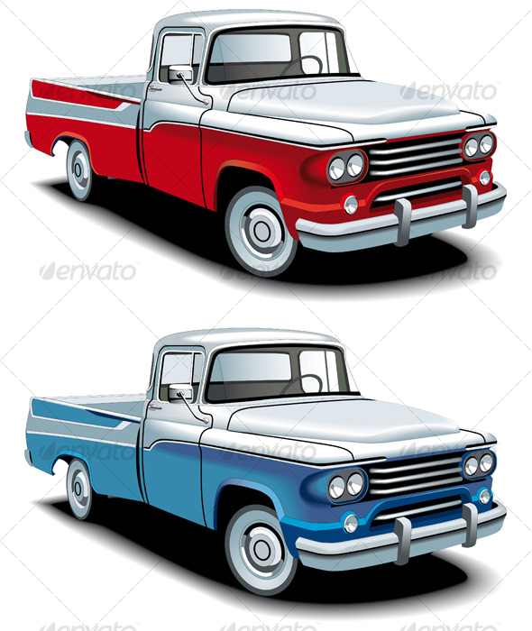 Retro american pickup - Retro Technology
