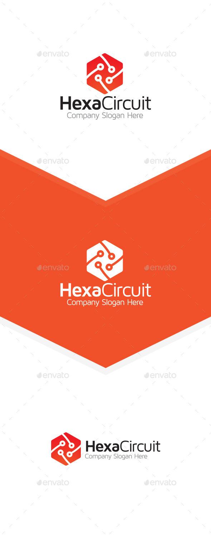 Hexa Tech Circuit - Symbols Logo Templates
