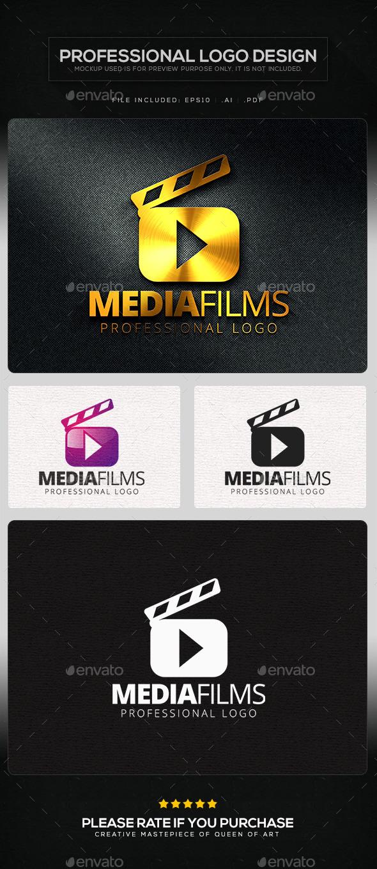 Media Films Logo Template - Symbols Logo Templates