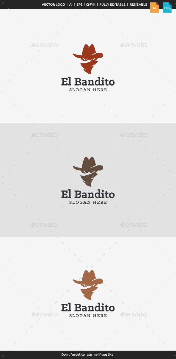 El Bandito - Bandit Logo - Humans Logo Templates