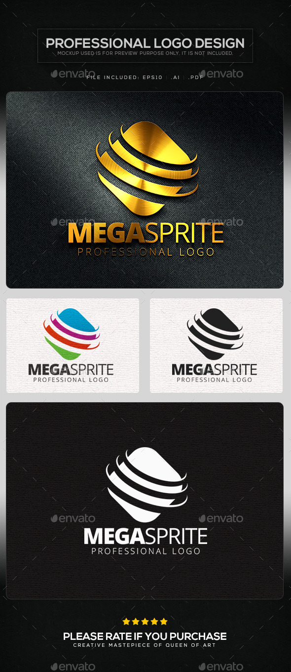 Mega Sprite Logo Template - Objects Logo Templates