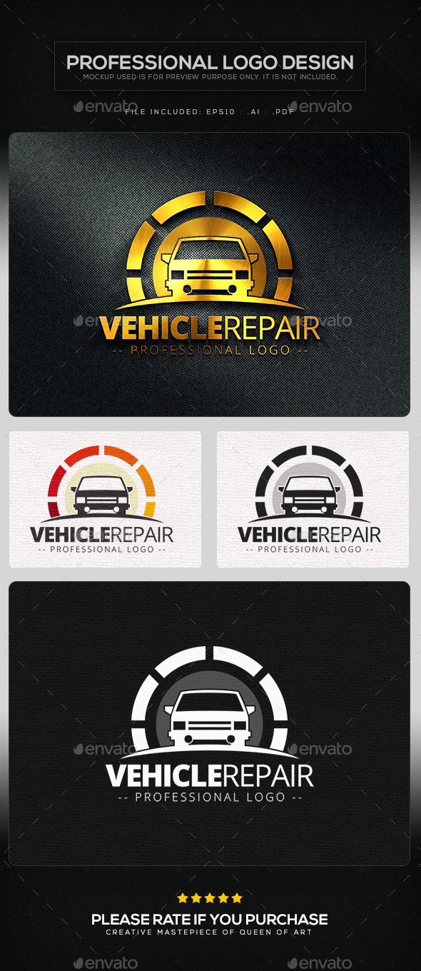 Vehicle Repair Logo Template - Objects Logo Templates