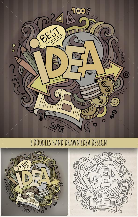3 Idea Doodles Designs - Concepts Business